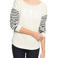 Gap Women Factory Stripe Arch Logo Pullover