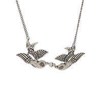 LOVEsick Sparrow Heart Necklace | Hot Topic