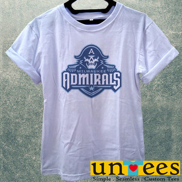 Low Price Women's Adult T-Shirt - Milwaukee Admirals Logo design