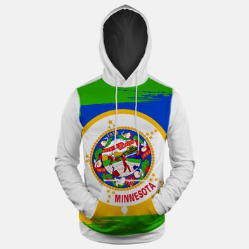Minnessota State Flag Hoodie (Ships in 2 Weeks)