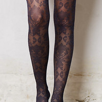 Sapphire Paisley Tights