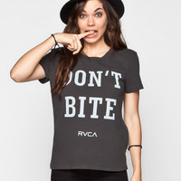 Rvca Don't Bite Womens Tee Black  In Sizes