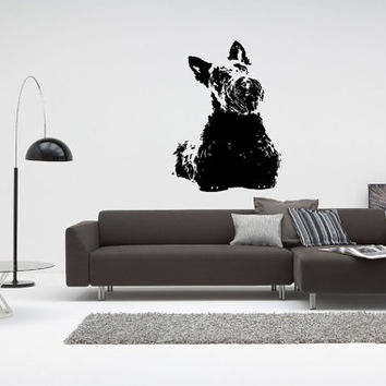 Scottish Terrier (Scottie) Dog Puppy Breed Pet Animal Family Wall Sticker Decal Mural 2886