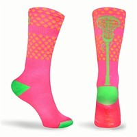 Aloha Neon Series Lacrosse Socks (Pink, Orange, Green) | Girls Lacrosse Socks