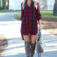 Plaid Dress Red/Black