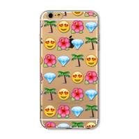 Funny Smiley Face Facebook Emoji Painted Soft TPU Silicon Cases CoverCase For Apple iPhone 4 4S 5 5S SE 5C 6 6S 6 Plus 6S Plus