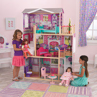 "KidKraft Elegant 18"" Doll Manor with Furniture - 65830"
