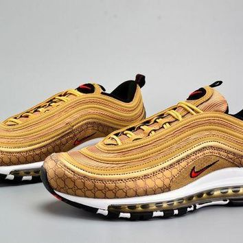ONETOW Jacklish Custom Nike Air Max 97 Og Qs Metallic Gold For Sale
