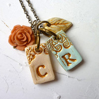 Personalized letter necklace - My Kid's initials