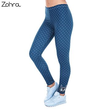 Zohra Deer Dots Print Leggings