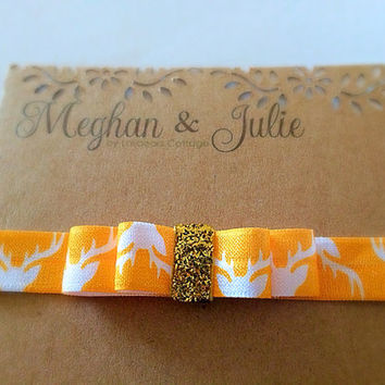 Yellow Deer hair tie Headband Mustard Deer Headband Summer Headband Antlers Headband Headband Spring headband Yellow Antlers, Moose headband
