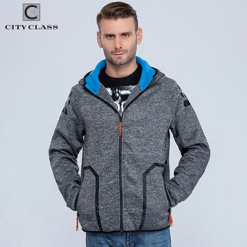 CITY CLASS 2016 Autumn&Winter Men's Hoodies of Brand Clothing Harajuku HipHop Sweatshirts for Male Outerwear Waterproof zip 2766