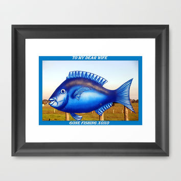To my dear Wife - Gone Fishing :) Framed Art Print by Chris' Landscape Images of Australia | Society6