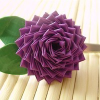 Purple Duct Tape Rose Alligator Clip by QuietMischief on Etsy