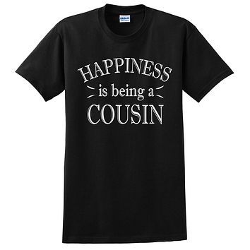 Happiness is being a cousin t shirt gift ideas for cousin t shirt birthday Christmas xmas tshirt