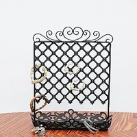 Ornate Metal Jewellery Stand in Black - Urban Outfitters