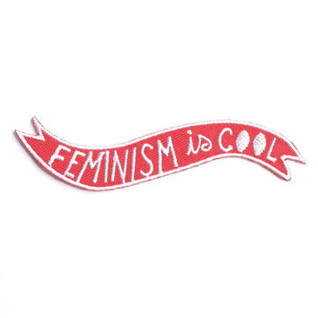 Feminism Is Cool Iron-On Patch