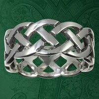 Irish Celtic Eternity Knotwork UNISEX Ring Handcrafted 925 Silver | museumreplicajewelry - Jewelry on ArtFire