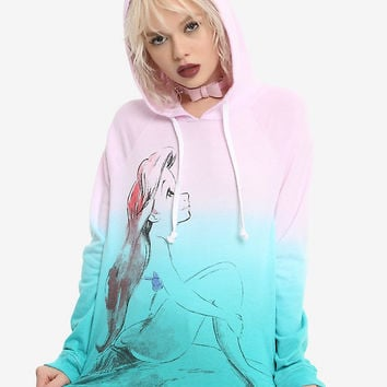 Disney The Little Mermaid Ariel Dip Dye Girls Hoodie