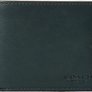 Coach Mens Sport Calf Slim Billfold Id Wallet