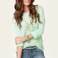 Beachcomber Oversized Mint Sweater