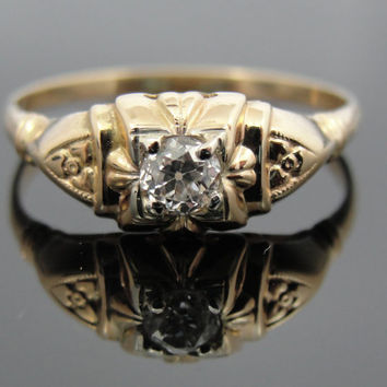 Antique Mine Cut Diamond Engagement Ring, Circa 1900's  RGDI421D