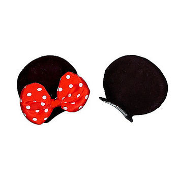 Minnie Mouse Ears Hair Clips - Disney - Spirithalloween.com