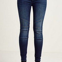 HALLE SUPER SKINNY MOTO CROPPED WOMENS JEAN
