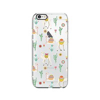 Cute llama Pattern Transparent Silicone Plastic Phone Case for iphone 7 _ LOKIshop (iphone 7)