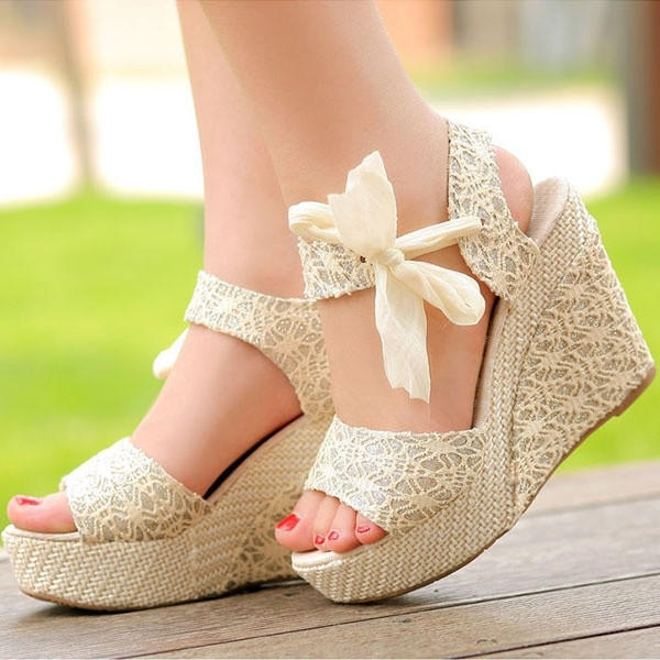 Best Beige Platform Sandals Products on Wanelo