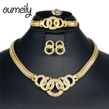OUMEILY African Jewelry Set Dubai Gold Silver Jewelry Sets For W 0e0f43c73880