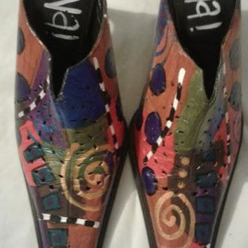 MICHELE K DESIGNER LEATHER SHOES - 10M - MADE IN ITALY