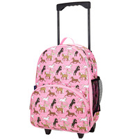 Horses in Pink Rolling Luggage - 85066