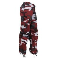 Rothco Womens Paratrooper Colored Red Camo Fatigues