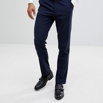 ASOS Slim Smart Pants In Navy at asos.com