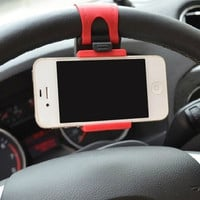 2015 Newest Hot Sale Popular And Beautiful Steering Wheel Car Phone Holder - Photo Color CAR-0141