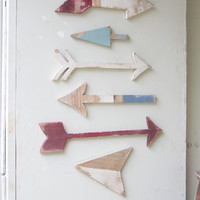 Set of 6 Wooden Arrows Wall Art