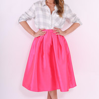 Midi Skirt Romantic At Heart - Hot Pink