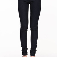 MIDNIGHT LOW RISE SKINNY JEANS