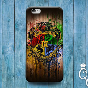 iPhone 4 4s 5 5s 5c 6 6s plus + iPod Touch 4th 5th 6th Generation Cute Wood Hogwarts Wizard Famous Movie Book Phone Cover Nerd Geek Fun Case