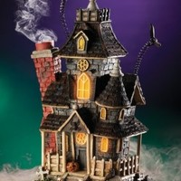 Haunted Smoking Mansion Lighted Halloween Incense Burner