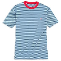 Liberty Stripe Performance Tee Shirt in Yacht Blue by Southern Tide