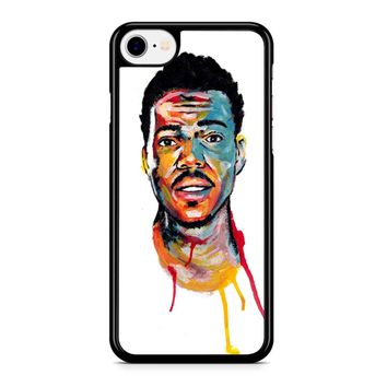Acrylic Painting Of Chance The Rapper iPhone 8 Case