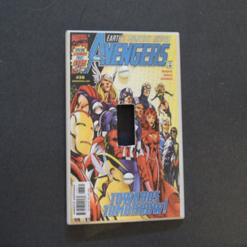 The Avengers Vintage Comic Light Switch Cover by myevilfriend
