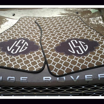 Monogrammed Gift Idea Personalized Car Mats Monogrammed Car Mats Initial Car Mats