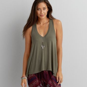 AEO SOFT & SEXY V-NECK JEGGING TANK