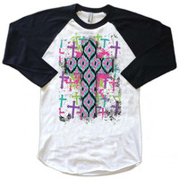 Ikat Cross Raglan