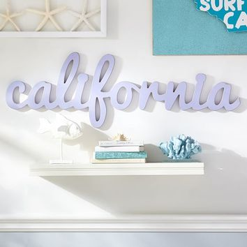 California Wood Word Decor