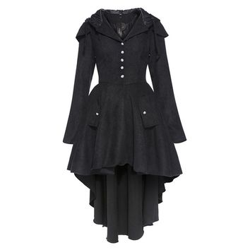 Asymmetric Gothic Trench Coat