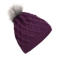 Winter Warm Hot Fashion Lady Skullies Beanies Knit Winter Hat Cap With Faux Fur Ball Women Wool Knitted Fur Hats DM#6